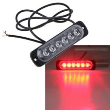 6LED Red Emergency Strobe Light Bar Warning Flash Flashing Truck Car Headlight