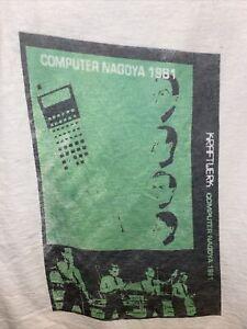 New Green Kraftwerk 1981 Japanese Computer Nagoya World Tour T Shirt 1/1 Size S