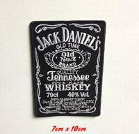 Jack Daniels Drink Art Badge Large Iron or sew on Embroidered Patch