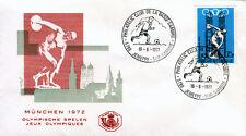 Belgien 1642 FDC-JEMEPPE, Olympiade Sommer 1972-Fussball