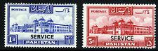 PAKISTAN 1948 SERVICE Overprints on 1Rp. & 5Rp. High Values SG O23 & SG O25 MINT
