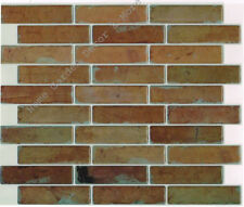 Peel Stick Wall Tile Kitchen Bathroom Backsplash Sheet Patina Brown Red Brick