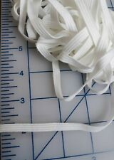1/4 inch White Soft Knit Elastic 10 yards (30 ft) FACE MASK *BUY MORE SAVE MORE*
