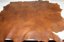 Italian Lambskin leather skin hide skins hides GRAINY TAN BROWN DISTRESSED 7+sqf