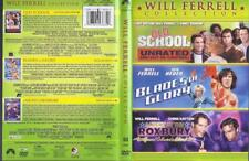 DVD:  3-DVD WILL FERRELL.....OLD SCHOOL UNRATED-BLADES OF GLORY-NIGHT AT ROXBURY