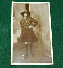 EARLY GIRL SCOUT REAL PHOTO POSTCARD - CANADA