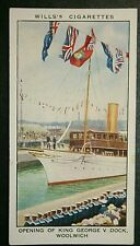 LONDON DOCKS  King George V Dock  Woolwich   Original 1930's Vintage Card