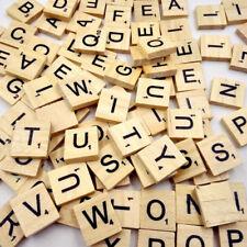 100 Pcs Holzern Scrabble Alphabet Spielsteine Buchstaben Puzzle Brettspiel