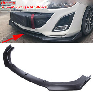 For Mazda 2 3 5 6 CX-3 CX-4 CX-5 Front Bumper Lip Spoiler Splitters Matte Black