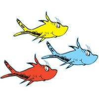 Dr. Seuss One Fish Two Fish Paper Cut-Outs by Eureka