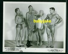 SPIKE JONES & WAYNE MARLIN TRIO VINTAGE 8X10 PHOTO BEEFCAKE PINUP MUSCLE MEN