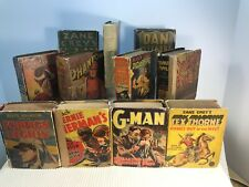 Lot of 11 Big Little Books Hardcover Whitman Publish Foreign Legion G-Man Pirate