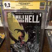 JIM MAHFOOD Original Art Hellboy sketch 9.2 CGC SS signed Walk Through Hell Dark