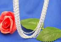 New 925 Silver Plated 8mm Thin Box Necklace Chain For Pendant SIZE 16-30inches