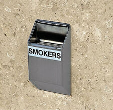 Wall Mount Ash Tray Brushed Silver Stainless Steel Outdoor Windproof Ashtray