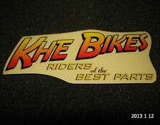 """1 AUTHENTIC KHE BMX BIKES """" RIDERS OF THE BEST PARTS"""" STICKER #4 DECAL AUFKLEBER"""