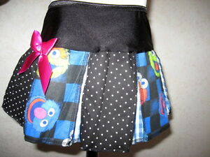 Monster pleated Skirt Black Blue Pink Cookie spotted Check shower Gift Birthday