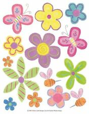 28 Daisy Butterfly Decal Stickers Mirrors Glass Tile Plastic Girls Room IdeaStix