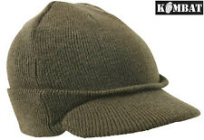 Mens Jeep Beanie Hat Green Thermal US Army Military Peak Ski Winter Hat MASH New