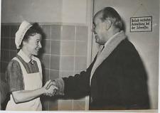 Albert Kesselring and hospital nurse  Vintage silver print Tirage argentique