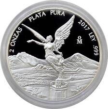 Mexico 2017 Silver Libertad Siegesgöttin 2 oz Onzas Plata Pura Proof PP Silber