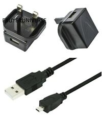 3 Pin UK Plug USB Charger + USB Cable for Nikon Coolpix Camera A100 A300