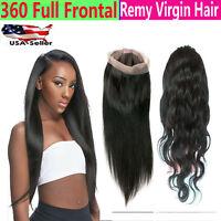 Brazilian Lace 360 Frontal Virgin Human Hair 22x4x2 inch 12 Month Guarantee
