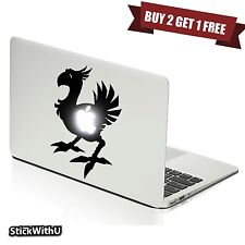 MacBook Sticker Apple Decal Pro Vinyl Logo Air Final Fantasy Chocobo Bird m1018