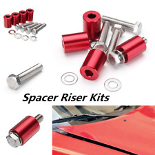 "1"" 8mm Red Billet Hood Vent Spacer Riser Kit For Car all Motor Turbo Engine Swap"