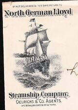 North German Lloyd Steamship Co Oelrichs New York StaP Flag #3 Cover City 9u