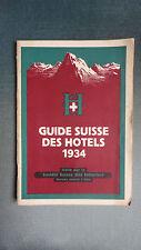 GUIDE SUISSE DES HOTELS 1934