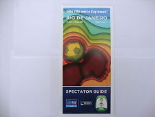 2014 World Cup Finals Official Rio de Janeiro Spectator Guide English issue MINT