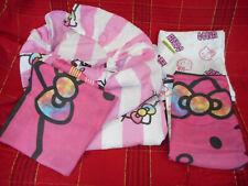 SANRIO GIRL'S HELLO KITTY FULL SIZE SHEET SET & 2 PILLOW CASES/PINK MULTI COLOR