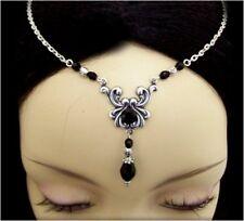 ^v^Stirnschmuck*Black*Gothic*LARP*circlet*medieval*Tiara*Burlesque*Diadem^v^