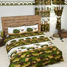 Army Camp Camouflage Double Duvet Cover and Pillowcase Set