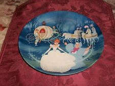 1988 Knowles Disney Cinderella Porcelain Collector Plate Bibbidi-Bobbidi-Boo Mib