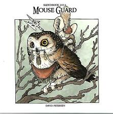 Mouse Guard Sketchbook 2014 David Petersen S&N #350/500 NM- AB Comic Art