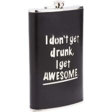 64 oz Stainless Steel Flask with Black Wrap - Alcohol Liquor Whiskey Party Flask