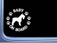 "Baby on Board Schnauzer L477 6"" pitbull Sticker decal"