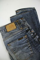 878a24670e1 NUDIE JEANS GRIM TIM USED BLACKCOATED Men W30 L32 Slim Fade Effect Jeans   0441