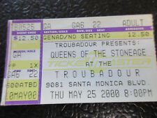 Queens of the Stone Age ticket stub May 25 2000 Troubadour Dave Grohl