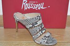 NIB JEROME C. ROUSSEAU Womens VANITY Natural Grey Python Heels Size 8 EUR 38