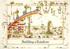 1970s RETRO BUILDING A RAINBOW POSTER PRINT 36x24 NEW FREE SHIPPING