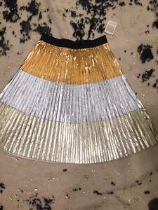 Lularoe Elegant Jill Skirt 2xl NWT CVC , Tri Color Gold(copper), Gold(Y), Silver