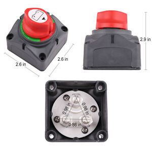 48V DC Battery Selector Switch Disconnect Cut Rotary for Marine Boat Rv Vehicles
