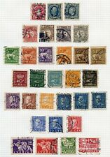 SWEDEN  SELECTION OF USED   STAMPS ON ALBUM PAGES AS SHOWN
