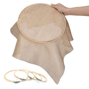 1Pc Wooden Cross Stitch Machine Embroidery Hoop Ring Bamboo Sewing 13-26cm  YREX