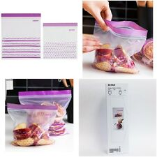 x 50 Sheets Ikea Food Storage Seal Zipper Bag 2 size 2.5 Liter & 1.2 Liter