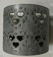 Bath and Body Works~ Blue  Hearts  Candle Holder~~NEW