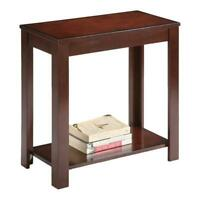 ORE International 24-inch Traditional Wood End Table in Cherry